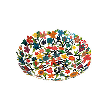 תמונה של קערה קטנה - חיתוך לייזר + ציור יד- פרחים - BOS-3 | יאיר עמנואל