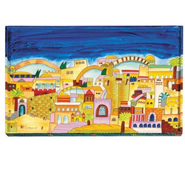 תמונה של קרש לחלה - ציור יד - ירושלים - CB-5 | יאיר עמנואל