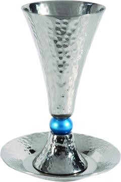 Picture of גביע קידוש - קונוס + כדור טורקיז - CUC-4   יאיר עמנואל